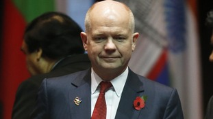 Foreign Secretary William Hague pictured earlier this week