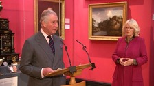 Prince Charles visits Cambridge for double celebration