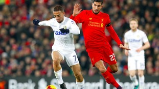 Leeds United v Liverpool half time report
