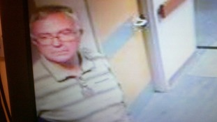 This CCTV footage shows Graham Roskell at Harrogate District Hospital on November 3, before he was reported missing.