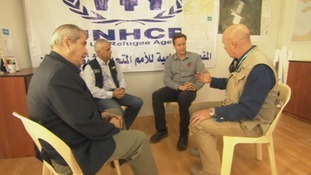 David Cameron met with officials from the UNHCR in Jordan