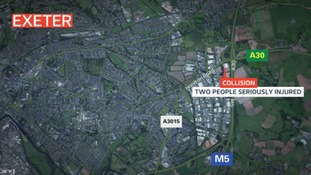 Two people seriously injured in Exeter collision