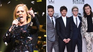 Adele and One Direction made huge earnings in 2016