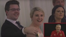 Warren Gatland surprises Lions fans on their wedding day