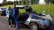 Oliver and Terry Holler have travelled around Europe in their DeLorean 'time-machine'.