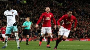 Manchester United 4-1 West Ham: EFL Cup quarter-final match report