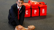 Hero schoolboy saves toddler's life using CPR