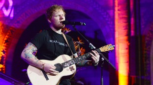 Ed Sheeran jokes about getting face 'cut open' in first official gig of 2016