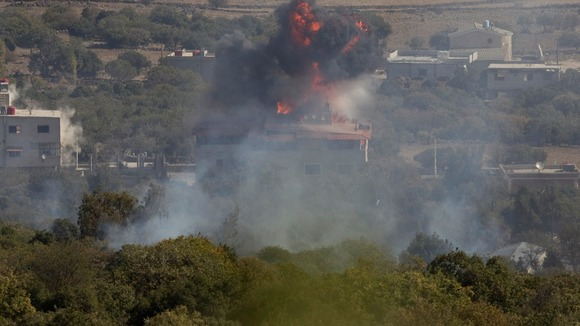 An explosion in the Syrian village of Bariqa close to the border of Israel