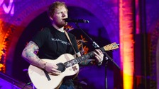 Ed Sheeran jokes about getting face 'cut open' in first gig of 2016