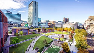 A computer-generated image of how Piccadilly Gardens could look.