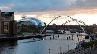 Police were searching the River Tyne on Thursday