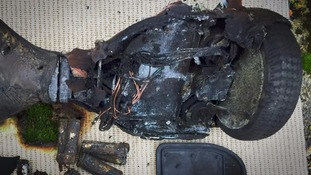 Burnt hoverboard