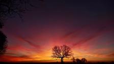Sunrise over Yaxley