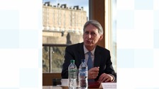 Chancellor Philip Hammond during a visit to Standard Life House, Edinburgh