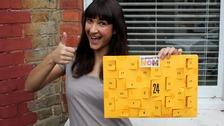 Annem shows off her brie-lliant calendar