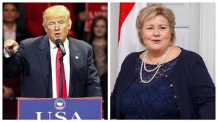 Norwegian Prime Minister Erna Solberg congratulated Donald Trump on his election victory.