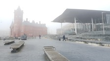 Fog in Cardiff Bay