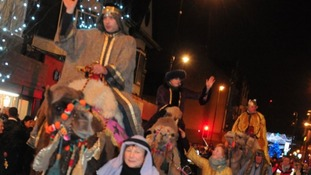 The camel parade through South Shields in 2015