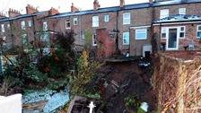 Residents were evacuated after the sinkhole opened up