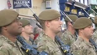 Warm welcome for Royal Anglians in Diss