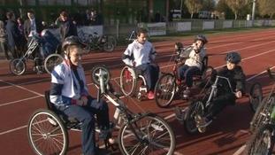 Paralympic stars meet children in Peterborough