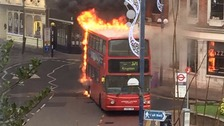 Bus fire brings Kingston High Street to a standstill