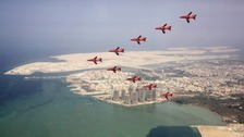 Red Arrows back in Lincolnshire after tour of Asia Pacific