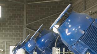 Storm water screw pumps
