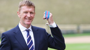 Tim Peake also collected an honour from the Queen.