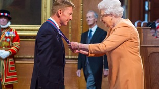 Tim Peake also collected an honour from the Queen. C