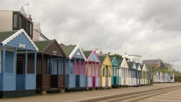Beach huts in Norfolk