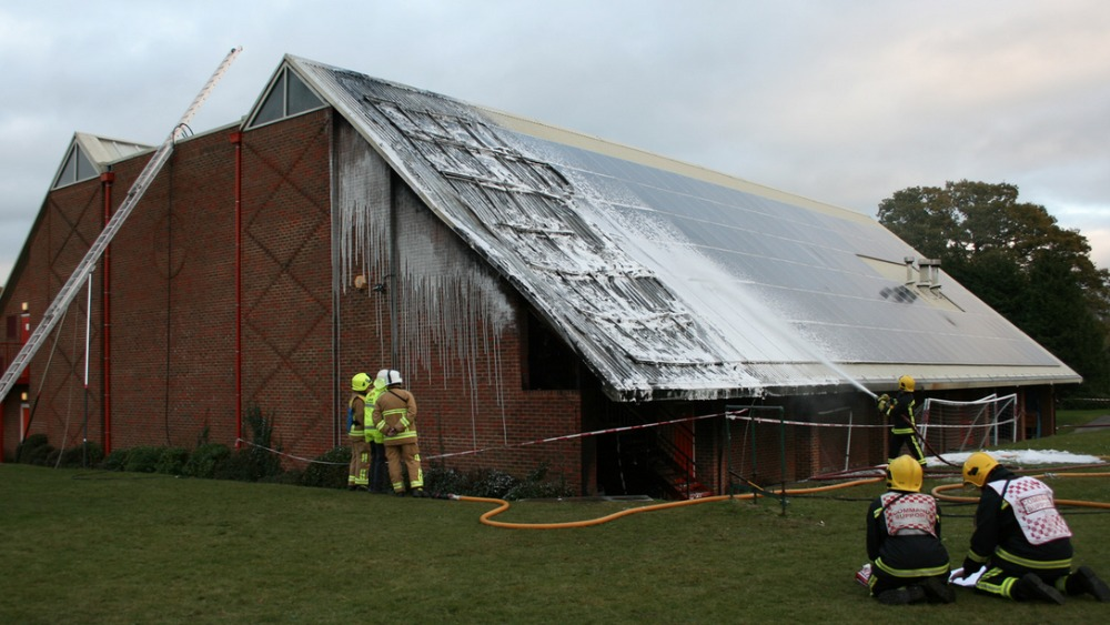Crews Tackle Fire In School Roof Meridian Itv News