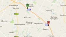 Multi-vehicle accident on M40 Northbound