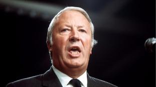Former Conservative prime minister Sir Edward Heath.
