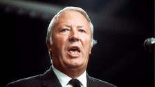 Former Conservative prime minister Sir Edward Heath.
