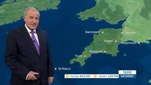 Cloudy & windy weekend in the South West
