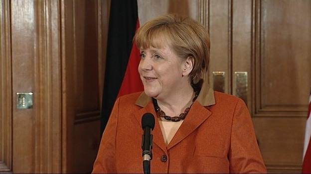 German Chancellor Angela Merkel refused to be drawn on whether she supports a budget freeze.