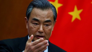 China's Minister of Foreign Affairs Wang Yi said Donald Trump's call with Taiwan's president was 'petty'.