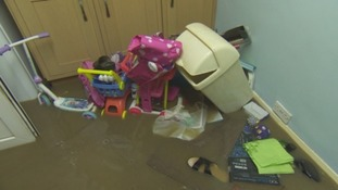 Homes in Flimby were flooded.