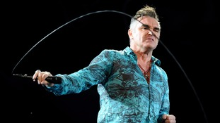 Morrissey performing at Coachella in 2009, during which he walked out as he could smell burning flesh