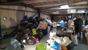 Charity 'overwhelmed' by refugee donations