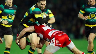 George North in action for Saints