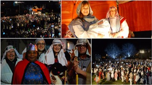 More than 1,200 people have come together in Wiltshire to break the World Record for 'The World's Largest Live Nativity'.