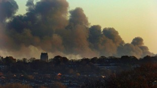 Massive fire at Prescot waste site