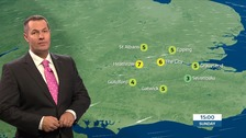 Weather: Dry, cold and breezy with sunshine.