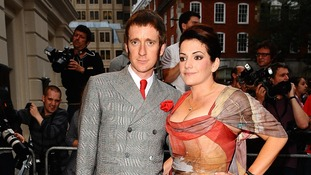 Bradley Wiggins and wife Catherine at the 2012 GQ Men Of The Year Awards in September.