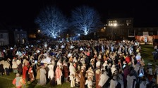 Wiltshire town breaks record for world's biggest nativity
