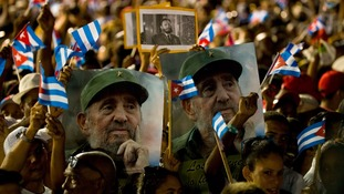 Thousands line streets as Castro's ashes interred at cemetery