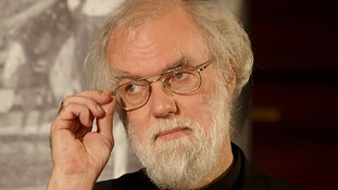 Outgoing Archbishop of Canterbury Dr Rowan Williams.